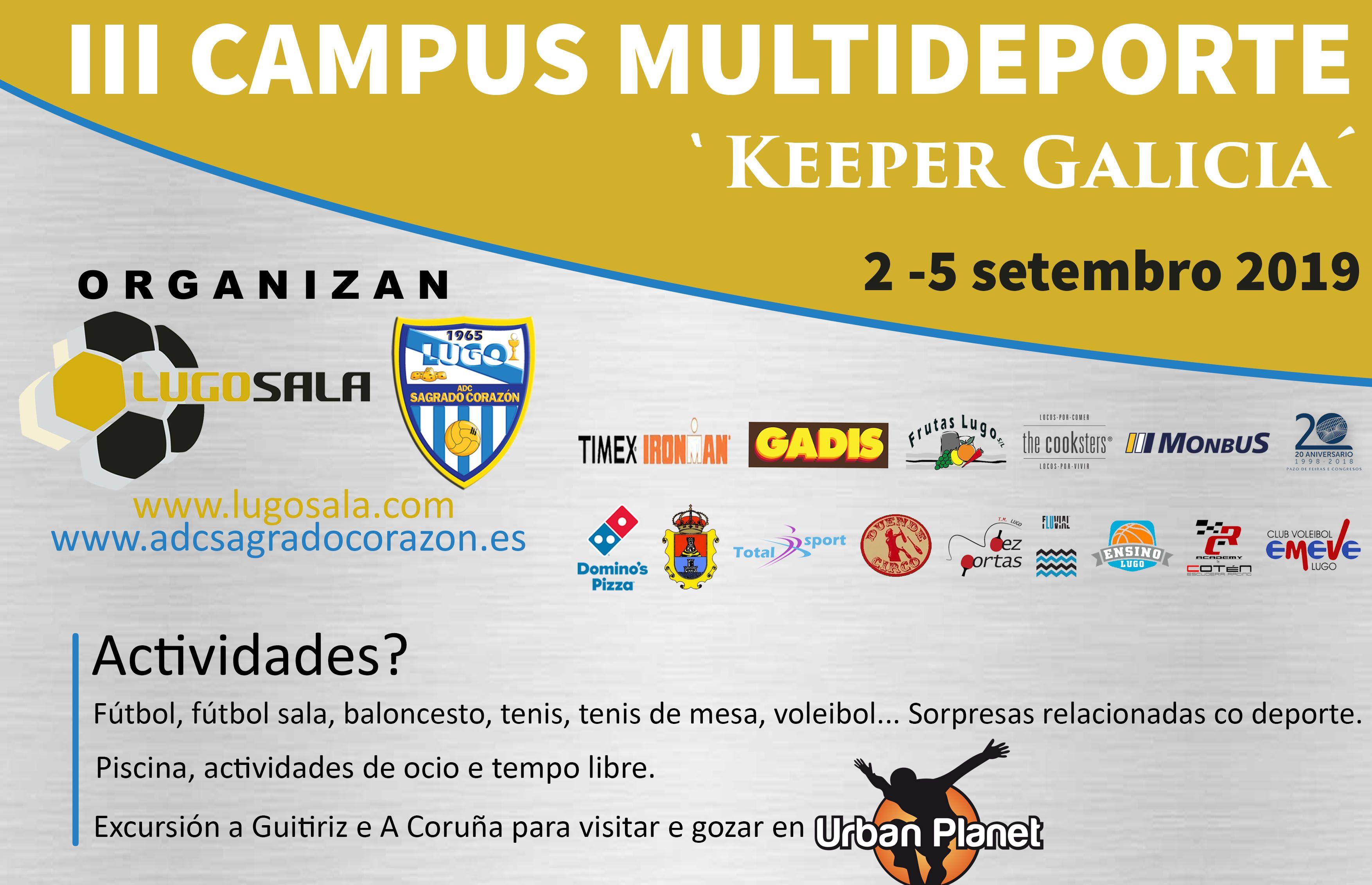 III Campus Multideporte Keeper Galicia: del 2 al 5 de septiembre